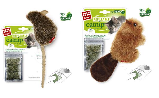 Гигви Игрушка для кошек с кошачьей мятой, искусственный мех, в ассортименте, GiGwi
