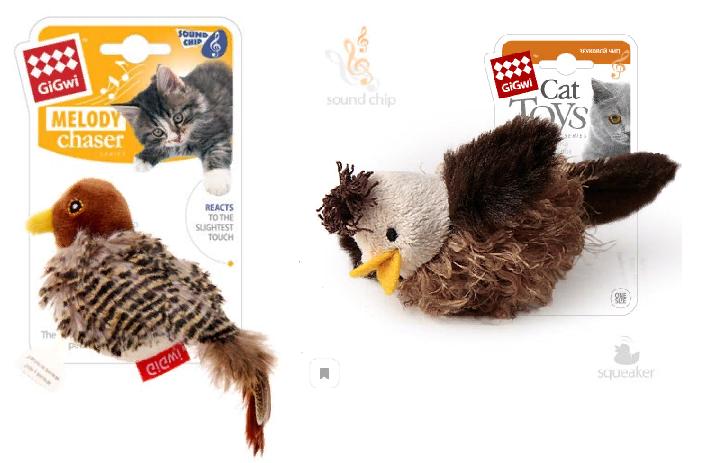 Гигви Игрушка Птичка с электронным чипом для кошек, в ассортименте, Gigwi