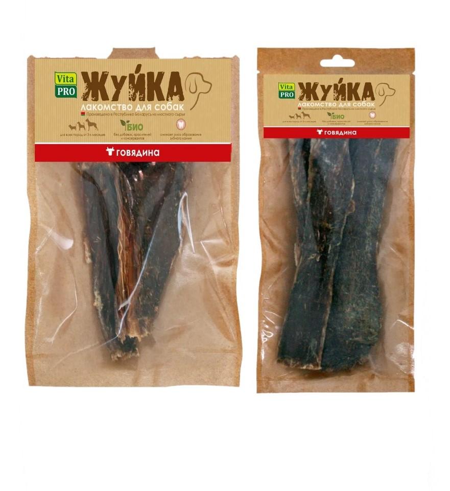 Вита Про Лакомство Жуйка для собак Пищевод говяжий сушеный, в ассортименте, Vita Pro