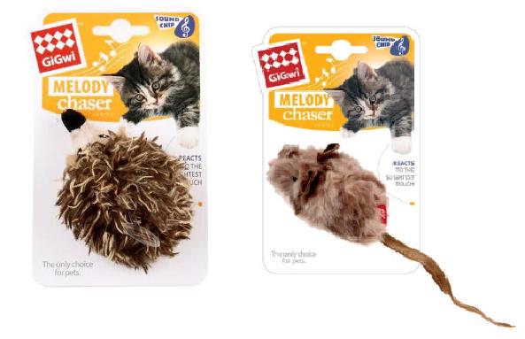 Гигви Игрушка с музыкальным чипом, для кошек, в ассортименте, Gigwi