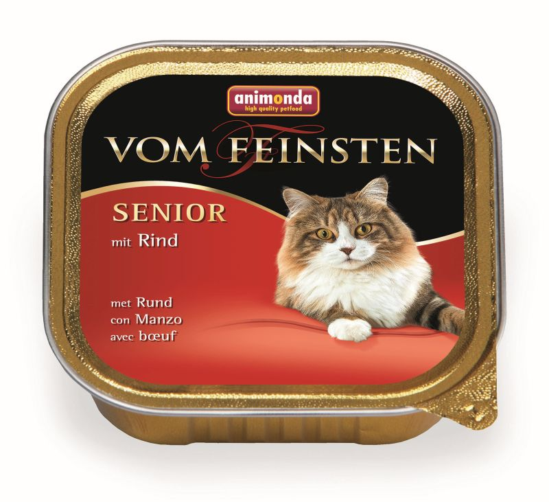 Консервы Анимонда Vom Feinsten Senior для кошек старше 7 лет, в ассортименте, 32*100 г, Animonda