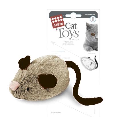 Гигви Игрушка Мышка с электронным чипом для кошек, 19 см, Gigwi