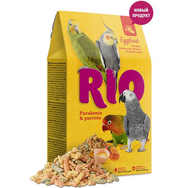 РИО Яичный корм для средних и крупных попугаев 250 г, RIO