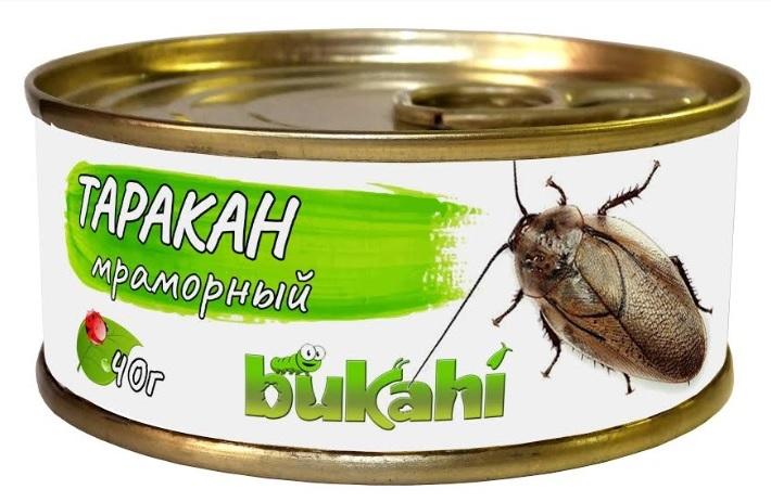 Букахи Консервы Мраморные тараканы для насекомоядных, 40 г, Bukahi