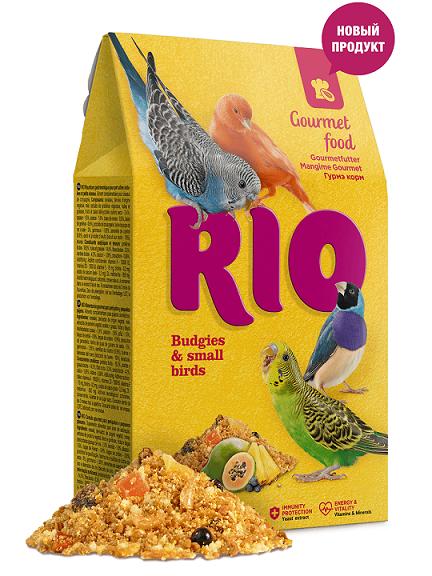 РИО Корм Гурмэ для волнистых попугаев и других мелких птиц, 250 г, RIO