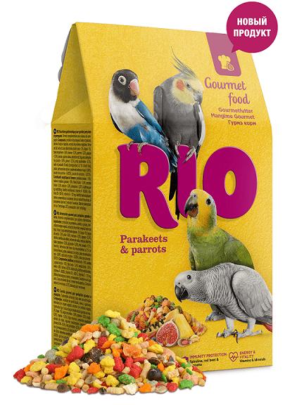 РИО Корм Гурмэ для средних и крупных попугаев, 250 г, RIO