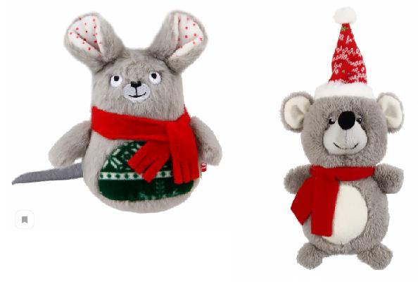 Гигви Игрушка Мышка с пищалкой для собак, в ассортименте, 18 см, Gigwi