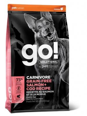 Корм Гоу беззерновой Natural Holistic Carnivore для щенков и собак, Лосось/Треска, в ассортименте, Go! Natural