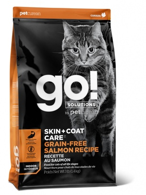 ГОУ Корм сухой беззерновой Natural Holistic Skin Coat для котят и кошек, Лосось, в ассортименте, Go! Natural