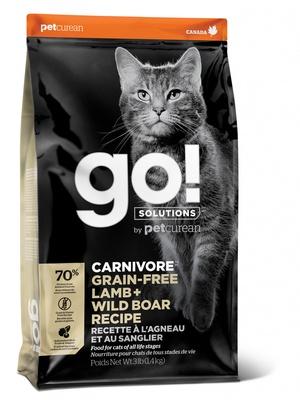 ГОУ Корм сухой беззерновой Natural Holistic Carnivore для котят и кошек, Ягненок/Мясо Дикого Кабана, в ассортименте, Go! Natural