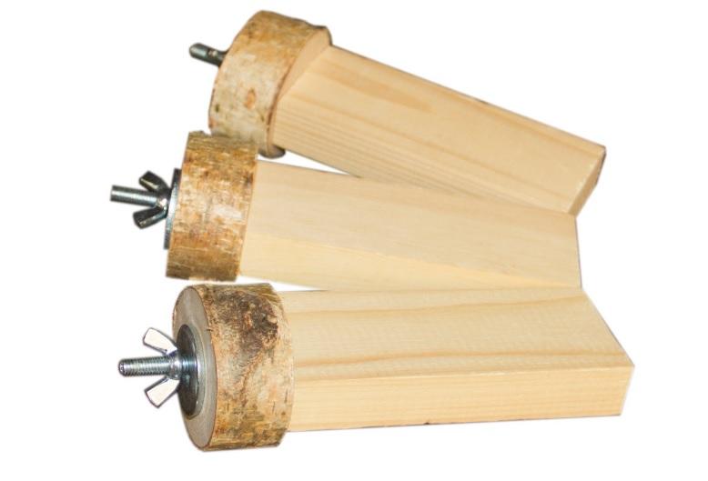 ПарротсЛаб Набор полок PL2056 для птиц и грызунов, винтовое металлическое крепление, 4*15 см, 3 шт/уп., ParrotsLab