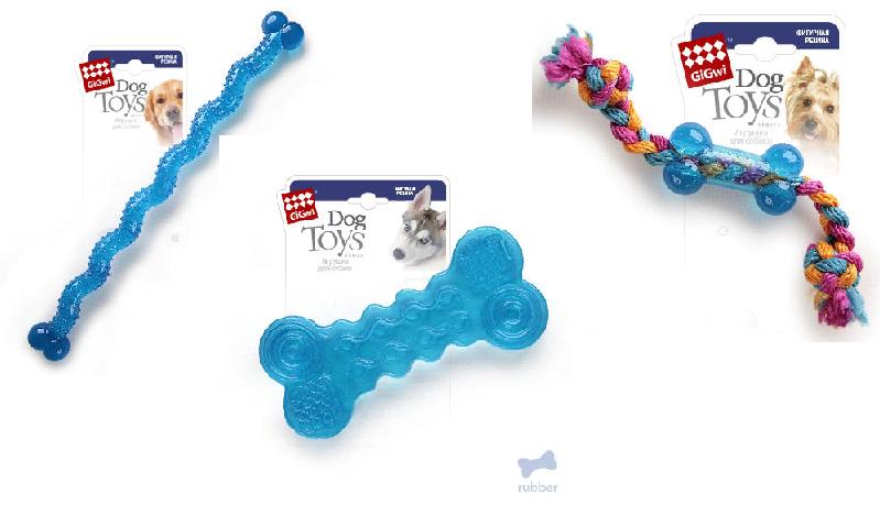 Гигви Игрушка Косточка для собак, резина, в ассортименте, Gigwi