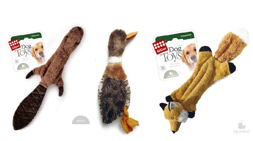 Гигви Игрушка-шкурка с пищалкой, для собак, в ассортименте, Gigwi