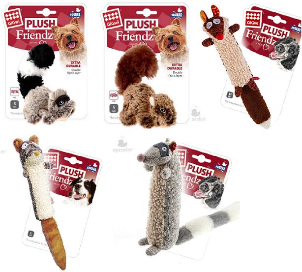 Гигви Игрушка с пищалкой для собак, в ассортименте, текстиль, Gigwi