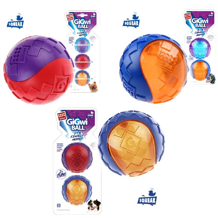Гигви Мяч G-Ball с пищалкой для собак, в ассортименте, Gigwi