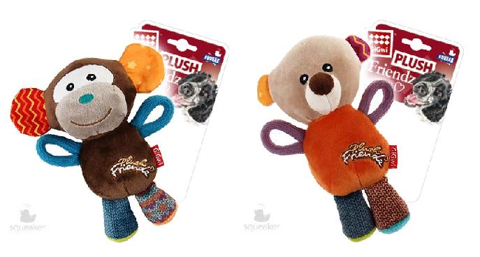 Гигви Игрушка Plush Frends с пищалкой для собак, 16 см, в ассортименте, Gigwi