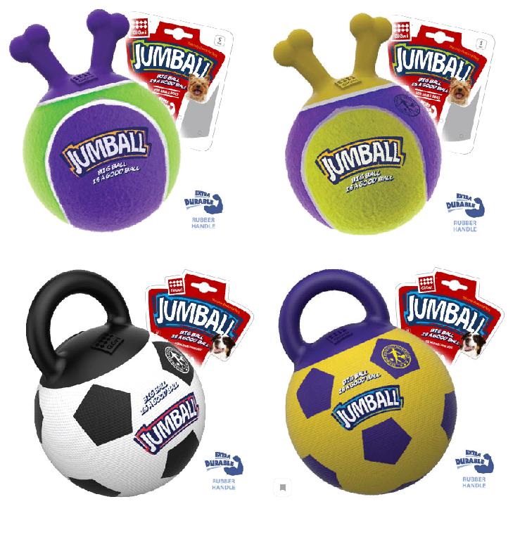 Гигви Мяч Jumball с захватом для собак, в ассортименте, резина, Gigwi