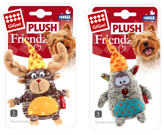 Гигви Игрушка Plush Frends с пищалкой для собак, в ассортименте, Gigwi