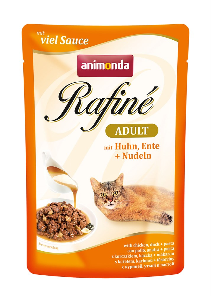 Паучи Анимонда Rafine Adult для взрослых кошек, в ассортименте, 12*100 г, Animonda