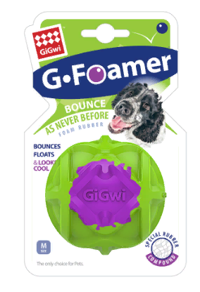 Гигви Игрушка Мяч из вспененной резины для собак, 6,5 см, Gigwi