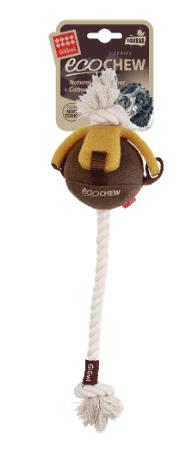 Гигви Игрушка Мяч на веревке для собак, длина 40 см, Gigwi