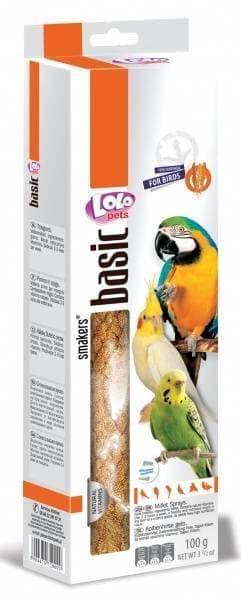 ЛолоПетс Сенегальское просо в колосьях, 100 г, лакомство для всех видов птиц, LoloPets