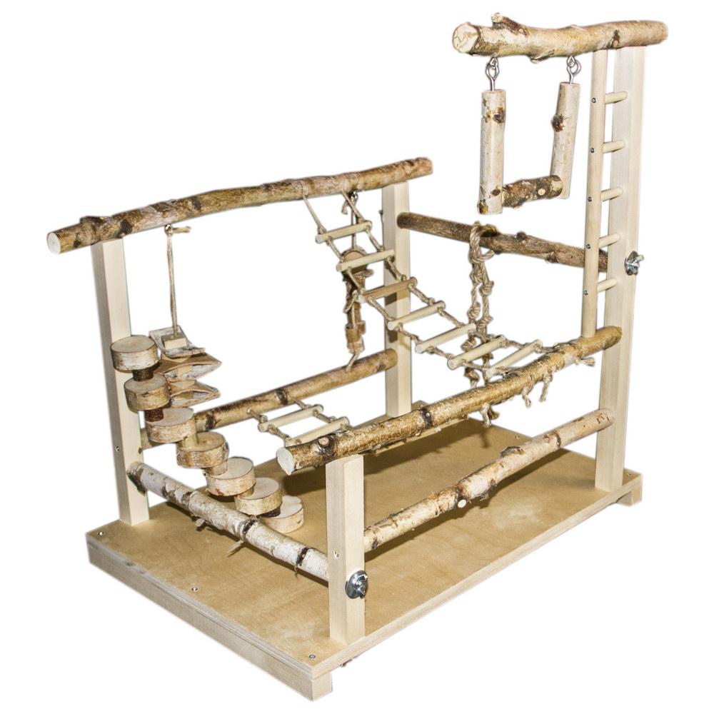 ПарротсЛаб Игровая площадка PL3059 для попугаев, 60*40*61-63 см, ParrotsLab