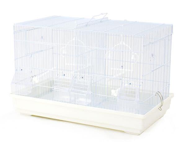 Клетка для птиц 520 с разделительной выдвижной решеткой, 58*32*37 см, в ассортименте, Золотая Клетка