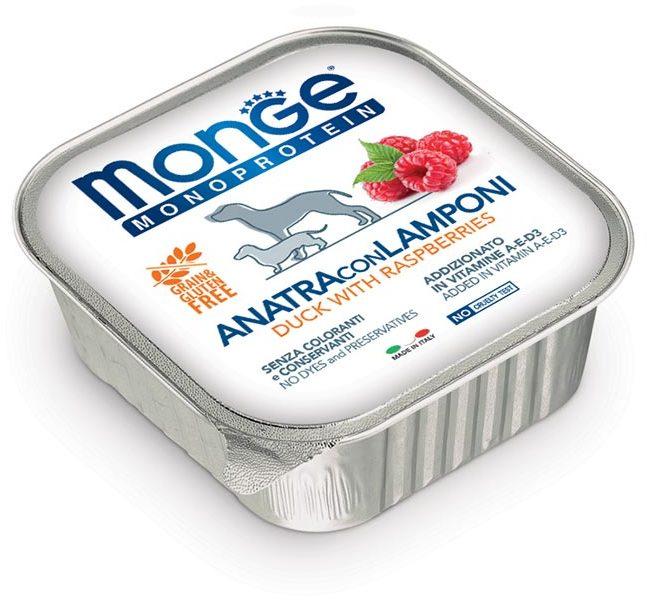 Монже Консервы (паштет) Dog Monoprotein Fruits для собак, в ассортименте, 150 г, Monge