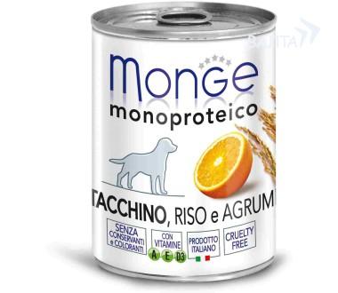 Монже Консервы Dog Monoproteico Fruits для взрослых собак, в ассортименте, 24*400 г, Monge