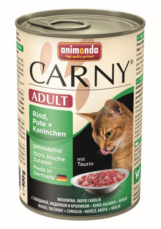 Консервы Анимонда CARNY Adult для взрослых кошек, в ассортименте, 6*400 г, Animonda