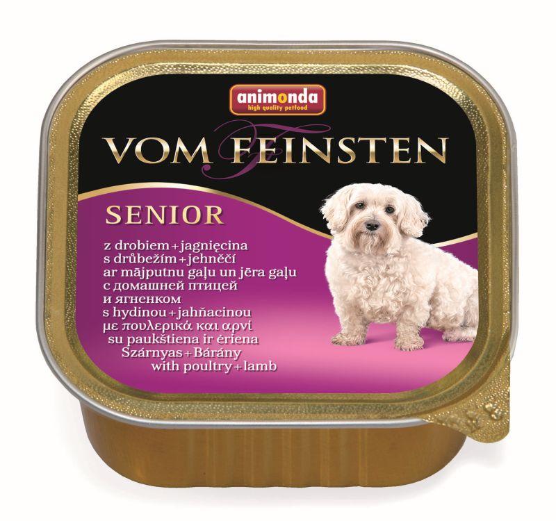 Консервы Анимонда Vom Feinsten Senior Мясо домашней птицы/Ягненок для собак старше 7 лет, 22*150 г, Animonda