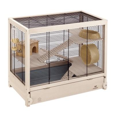 Ферпласт Клетка для грызунов Hamsterville с аксессуарами из натурального дерева, 60*34*49 см, Ferplast