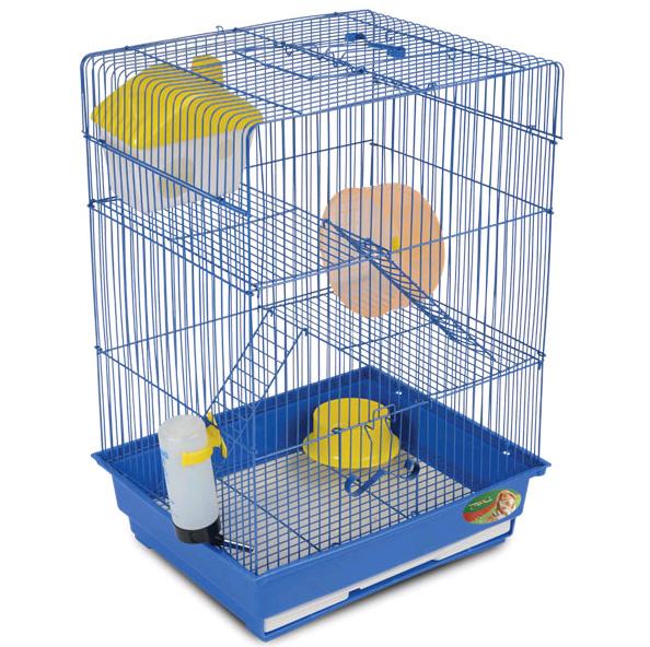 Триол Клетка с выдвижным лотком для мелких грызунов YD-435, 35*28*48 см, Triol