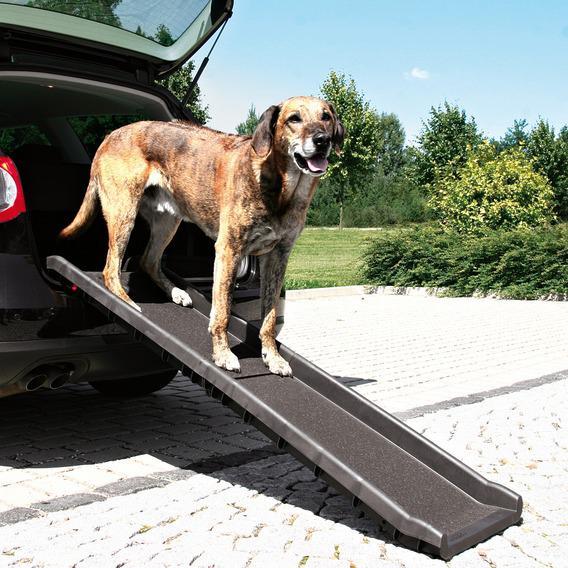 Трикси Пандус-трап двухсекционный СКЛАДНОЙ для автомобиля при перевозке собак, 80/156*40 см, для собак весом до 90 кг, Trixie