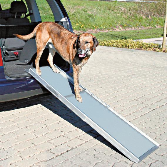 Трикси Пандус-трап двухсекционный телескопический РАЗДВИЖНОЙ, 100/180*43 см для собак весом до 135 кг, Trixie