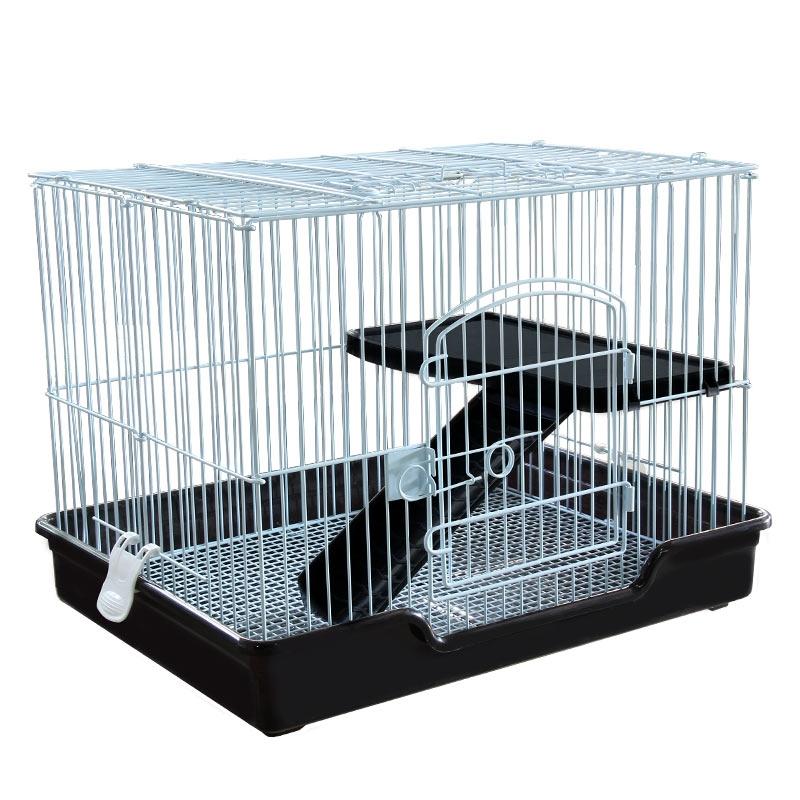 Триол Клетка C5 с изолированным поддоном для хорьков, шиншилл, кроликов и других животных C5, 61*46*45 см, в ассортименте, черный поддон Triol