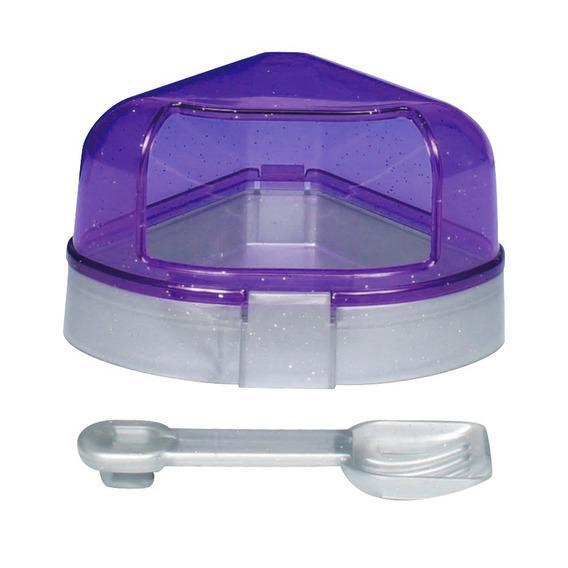 Трикси Угловой туалет с крышей и лопаткой для мелких грызунов, 11*11*8 см, Trixie