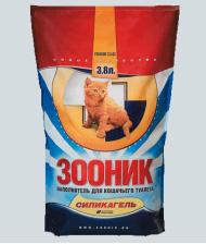 Зооник Наполнитель Зооник силикагелевый, 3,8 литра