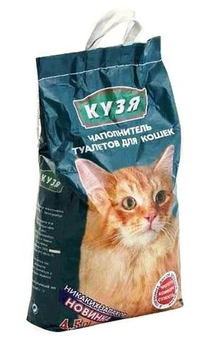 """Наполнитель """"Кузя"""" впитывающий для кошек, 4,5 литра"""