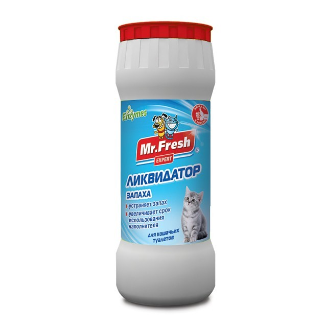 Мистер Фреш 2в1 Ликвидатор запаха F401 для кошачьих туалетов 500 г