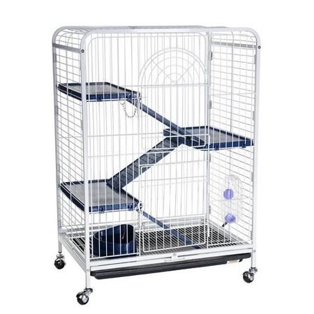 Кредо Клетка с изолированным выдвижным поддоном для грызунов и хорьков D800, белая, 64*43,5*92,5 см, Kredo