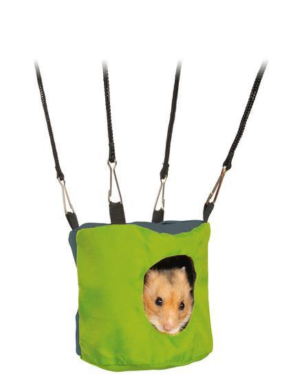 Трикси Шуршащая подвесная домик-норка для хомяка, дегу, мышей, Trixie