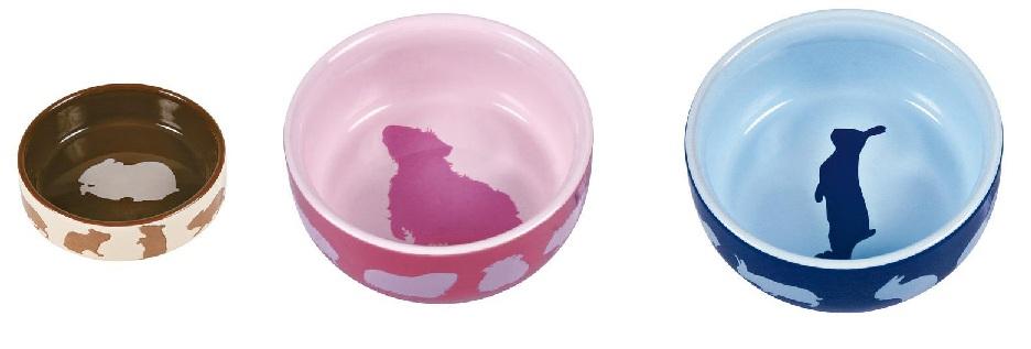 Трикси Миска керамическая с рисунком, в ассортименте, Trixie