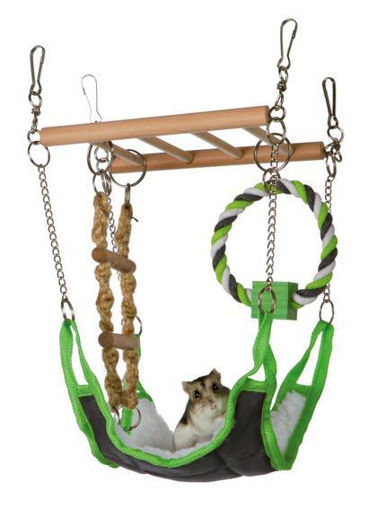 Трикси Подвесной мост с гамаком для грызунов, 17*15*22 см, Trixie