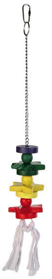 Трикси Деревянная игрушка для попугая, длина 30 см, Trixie