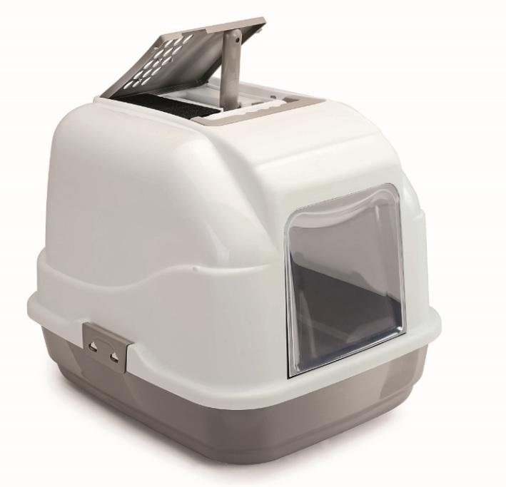 Имак Биотуалет-бокс для кошек Easy Cat с угольным фильтром, 50*40*40 см, в ассортименте, Imac