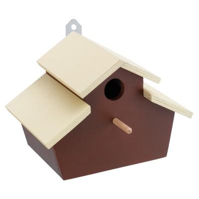 Ферпласт Домик для птиц Fun 3 (деревянный), 22 x 15,2 x h 15,5 см, Ferplast