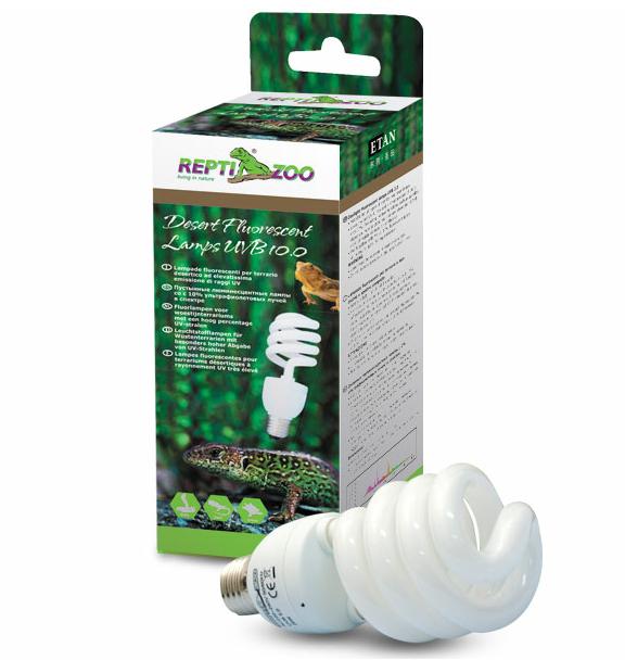 РептиЗоо Лампа Compact Desert 10.0 для пустынных и полупустынных террариумов, в ассортименте, ReptiZoo