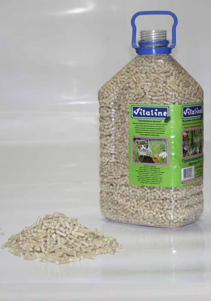 Виталайн Наполнитель древесный гранулированный для птиц и животных, 3 кг, Vitaline